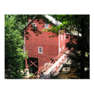 A SCENE OF A GRIST MILL POSTCARD