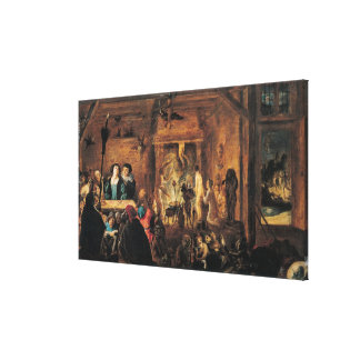 A Scene of Sorcery, 1633 Gallery Wrapped Canvas