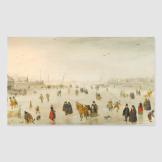A Scene on the Ice by Avercamp Stickers