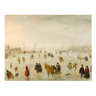 A Scene on the Ice by Hendrick Avercamp Postcard