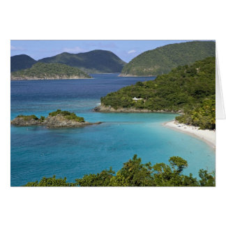 A scenic of Caneel Bay from a road at St. John Card