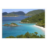 A scenic of Caneel Bay from a road at St. John Photo Print