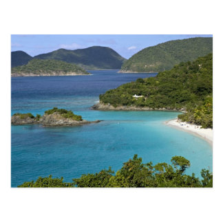A scenic of Caneel Bay from a road at St. John Postcard