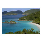 A scenic of Caneel Bay from a road at St. John Poster