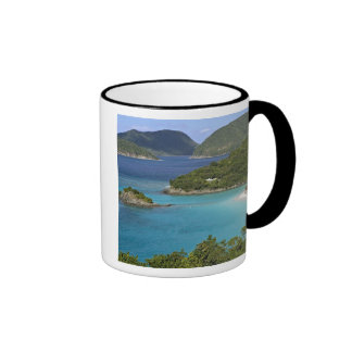 A scenic of Caneel Bay from a road at St. John Ringer Mug