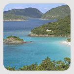 A scenic of Caneel Bay from a road at St. John Stickers