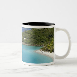 A scenic of Caneel Bay from a road at St. John Two-Tone Coffee Mug