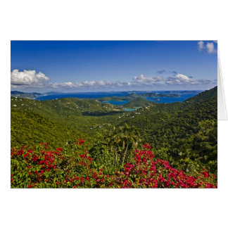 A scenic of Cruse Bay, St. John U.S Virgin Card