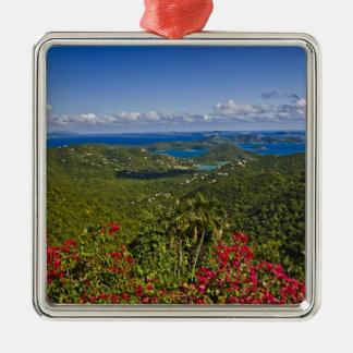 A scenic of Cruse Bay, St. John U.S Virgin Metal Ornament
