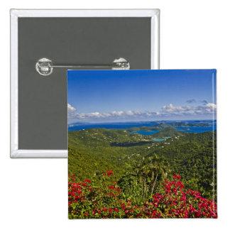 A scenic of Cruse Bay, St. John U.S Virgin Pinback Button