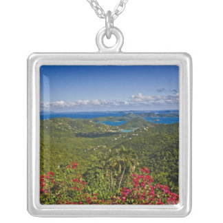A scenic of Cruse Bay, St. John U.S Virgin Silver Plated Necklace