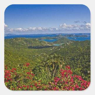 A scenic of Cruse Bay, St. John U.S Virgin Square Sticker