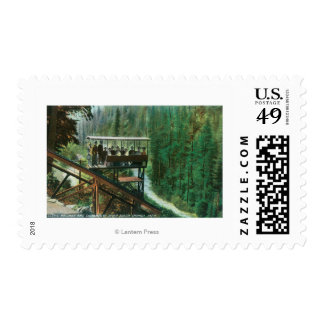 A Scenic Railway Along the Sacramento River Postage Stamp