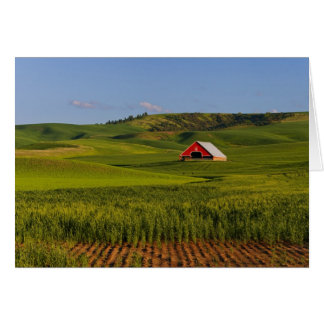 A scenic view of a barn in Moscow Idaho. Card