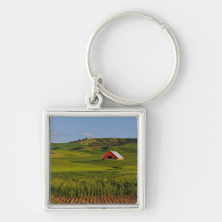 A scenic view of a barn in Moscow Idaho. Keychain