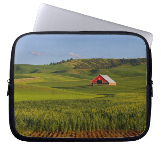 A scenic view of a barn in Moscow Idaho. Laptop Sleeves
