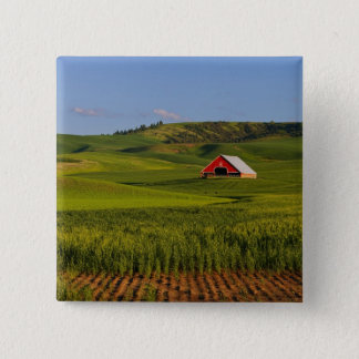 A scenic view of a barn in Moscow Idaho. Pinback Button