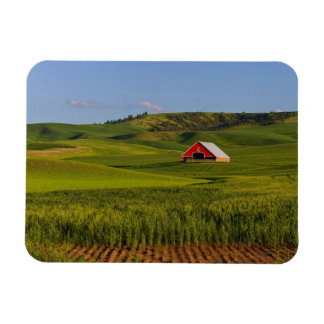 A scenic view of a barn in Moscow Idaho. Rectangular Photo Magnet
