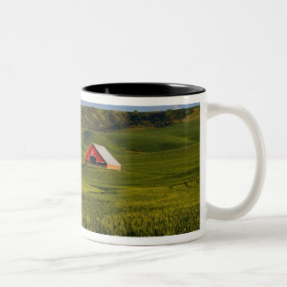 A scenic view of a barn in Moscow Idaho. Two-Tone Coffee Mug