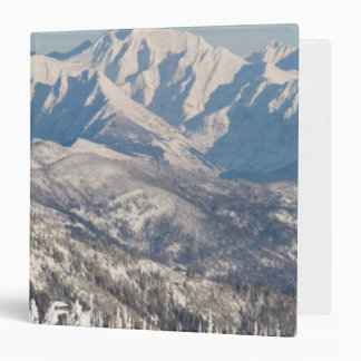 A Scenic View of Snowy Mountains and Trees. Binder