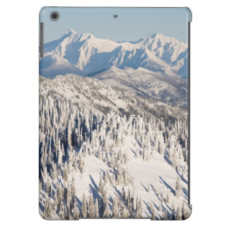 A Scenic View of Snowy Mountains and Trees. iPad Air Case