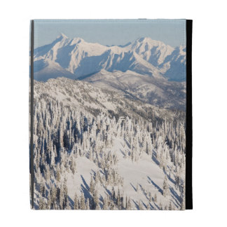 A Scenic View of Snowy Mountains and Trees. iPad Folio Cover