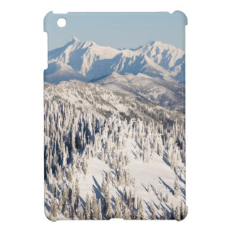 A Scenic View of Snowy Mountains and Trees. iPad Mini Covers
