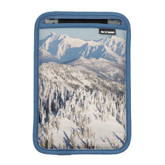 A Scenic View of Snowy Mountains and Trees. Sleeve For iPad Mini