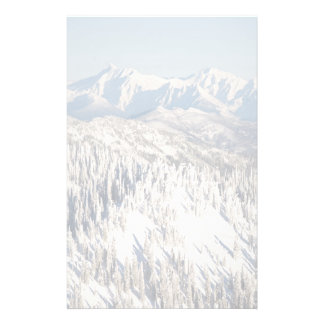A Scenic View of Snowy Mountains and Trees. Stationery