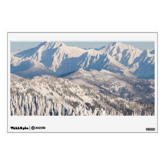 A Scenic View of Snowy Mountains and Trees. Wall Sticker