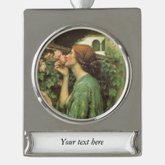 A Scent of Roses Silver Plated Banner Ornament