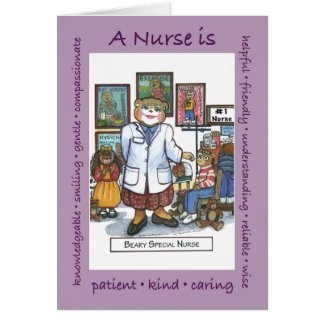 A School Nurse is... card