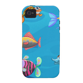A school of fish under the sea Case-Mate iPhone 4 case