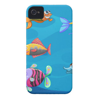 A school of fish under the sea iPhone 4 covers