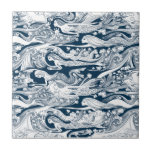 A School of Mermaids swim by Small Square Tile