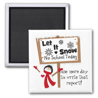 A School Psychologist's Snow Day Reality Magnet