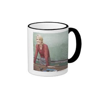 A school teacher ringer mug