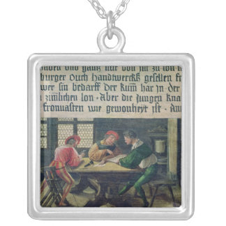A School Teacher Silver Plated Necklace