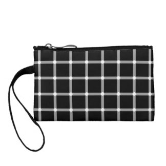 A scintillating black and white grid optical illus coin purse