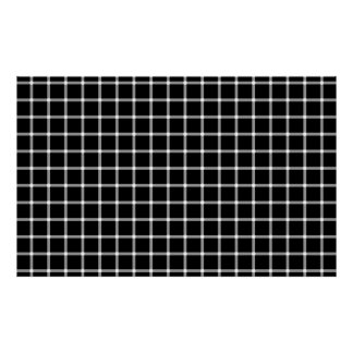 A scintillating black and white grid optical illus poster