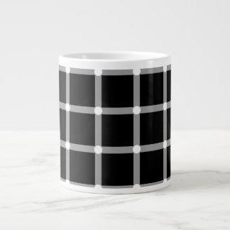 A scintillating black and white grid optical illus jumbo mug
