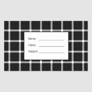 A scintillating black and white grid optical illus rectangular sticker