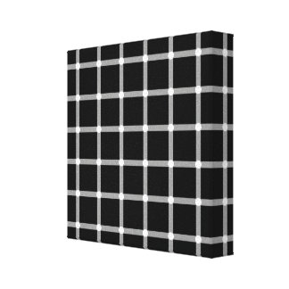 A scintillating grid optical illusion canvas print