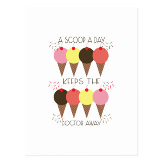 A Scoop A Day Keeps The Doctor Postcard