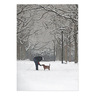 a scoop of snow large business cards (Pack of 100)