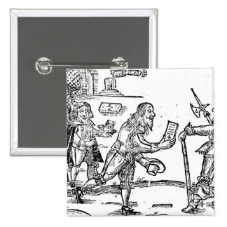 A Scotsman Petitioning Charles I 2 Inch Square Button