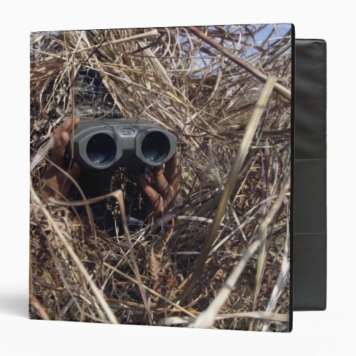 A scout observer practices observation techniqu 2 binder