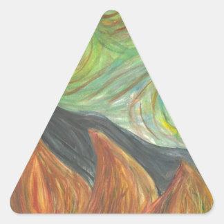 a scribble triangle sticker