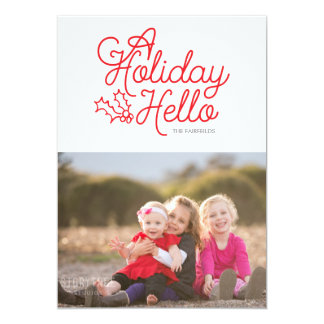 A Scripted Holiday Hello Card