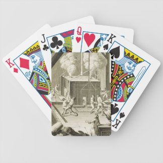 A sculptor's foundry, from the 'Encyclopedie des S Bicycle Playing Cards